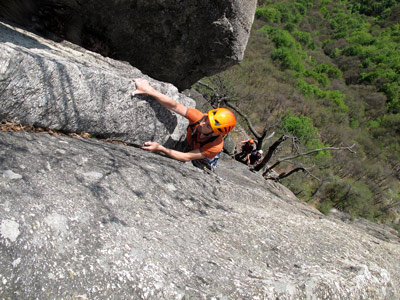 Rock climbing weekend in Rocca Sbarua, Alps of Piedmont