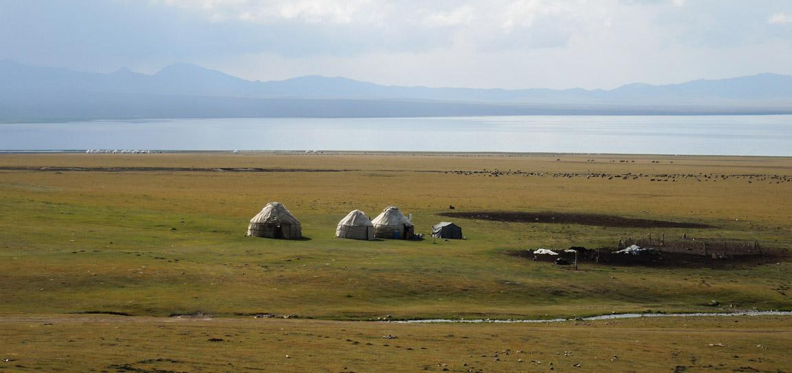 Yurts near Tien Shan in Kyrgyzstan
