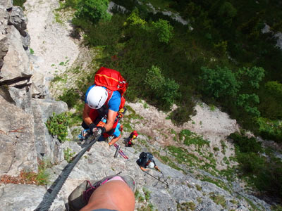 Via ferrata routes in Italy - group excursions and tours