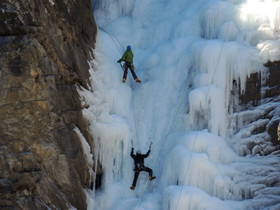 Ice climbing experience with Alpine Guides