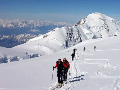 Ski touring - Monte Rosa summit climb with Alpine Guides