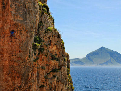 Rock climbing camp in San Vito Lo Capo, Sicily