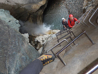 Via ferrata excursion with Alpine Guides: The Orrido di Foresto
