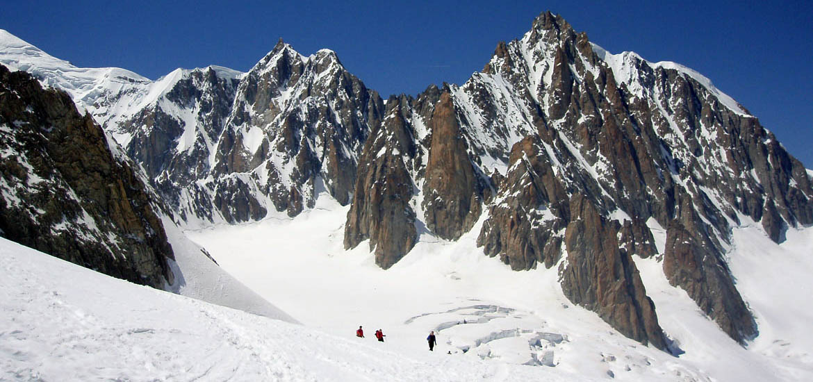 Mountaineering Aosta Valley Alps: Mont Blanc glacier tour