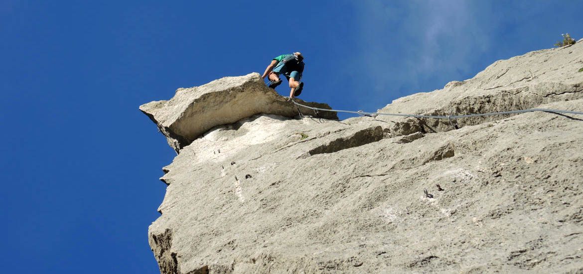 Rock climbing course in Finale Ligure