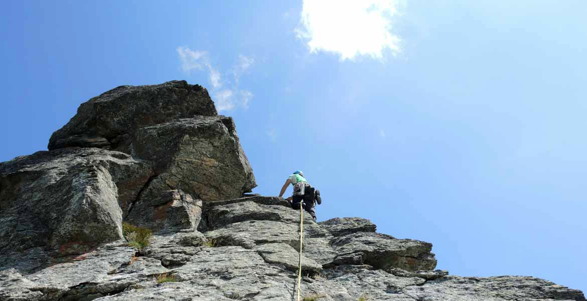 Rock climbing weekend with guides in the Alps - Piedmont
