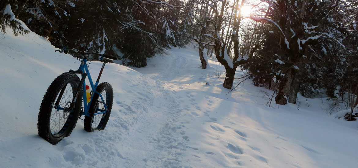 Fatbiking in Piedmont Alps, Italy