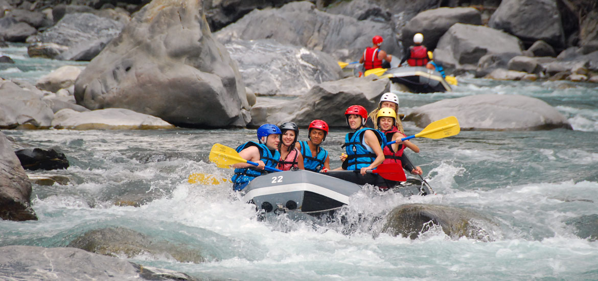 Rafting experience in Piedmont with guides