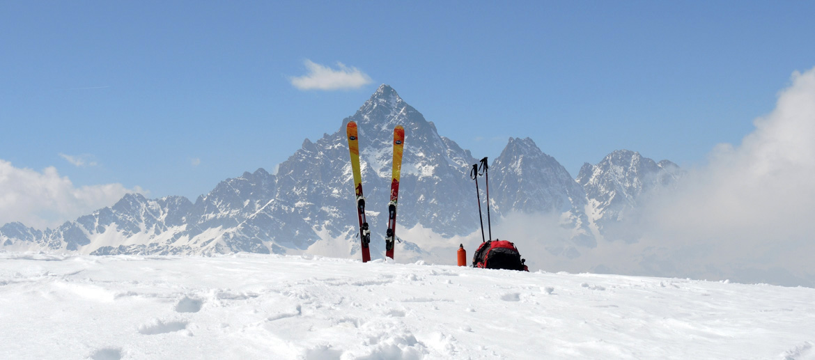 Piemonte - with mountain guide for a ski touring excursion around Torino