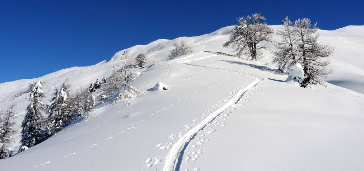 Piemonte, ski touring and splitboarding itinerary and day tour