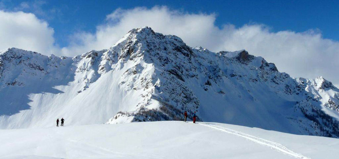 Ski touring in Maira Valley