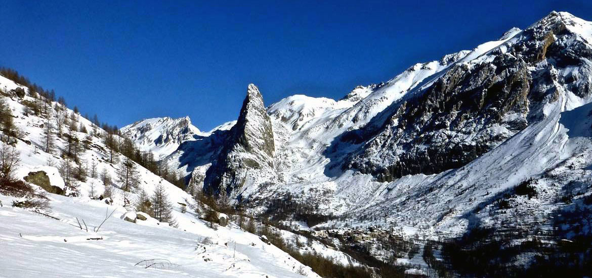 Winter holiday in the Alps: snowshoeing tour in Val Maira, Piedmont