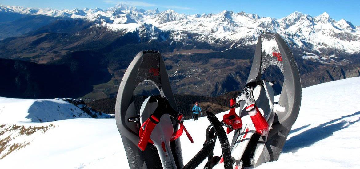 Snowshoing excursions in the Alps of Piedmont