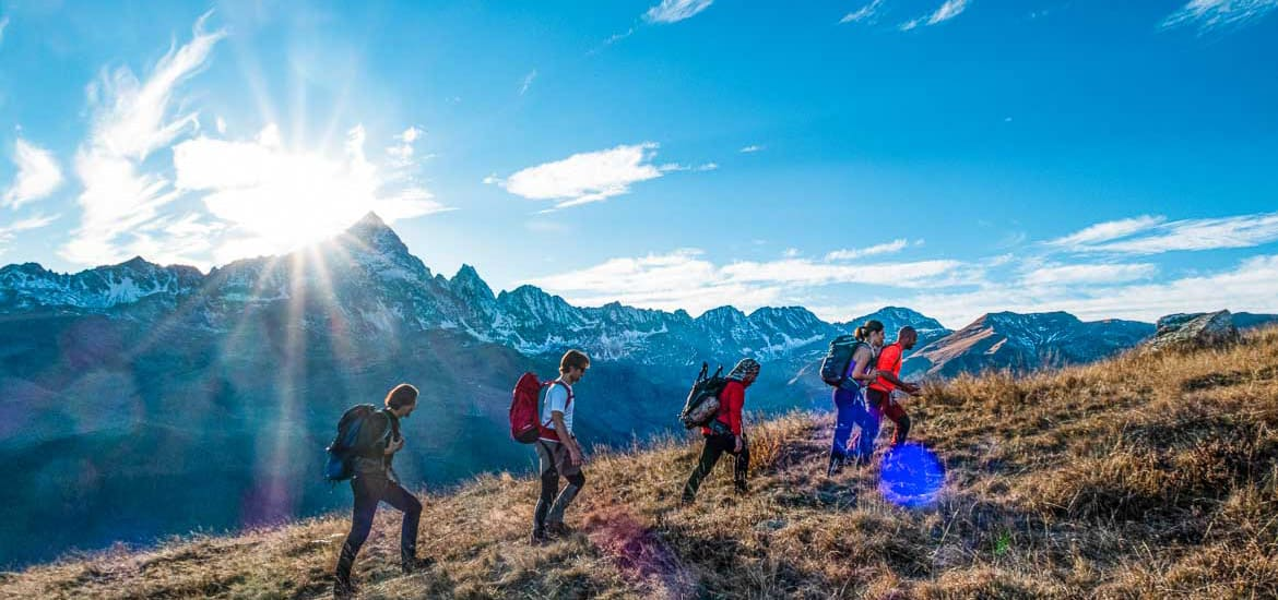 Hiking tour around Monviso, Alps of Piedmont