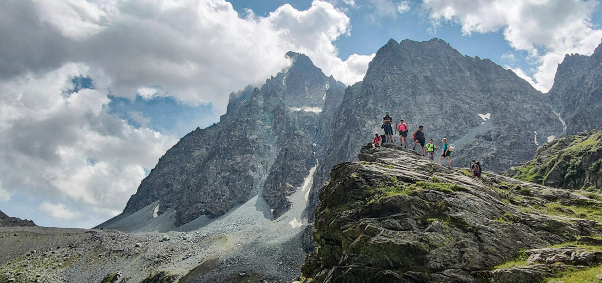 Hiking and trekking tour around Monviso, Piedmont