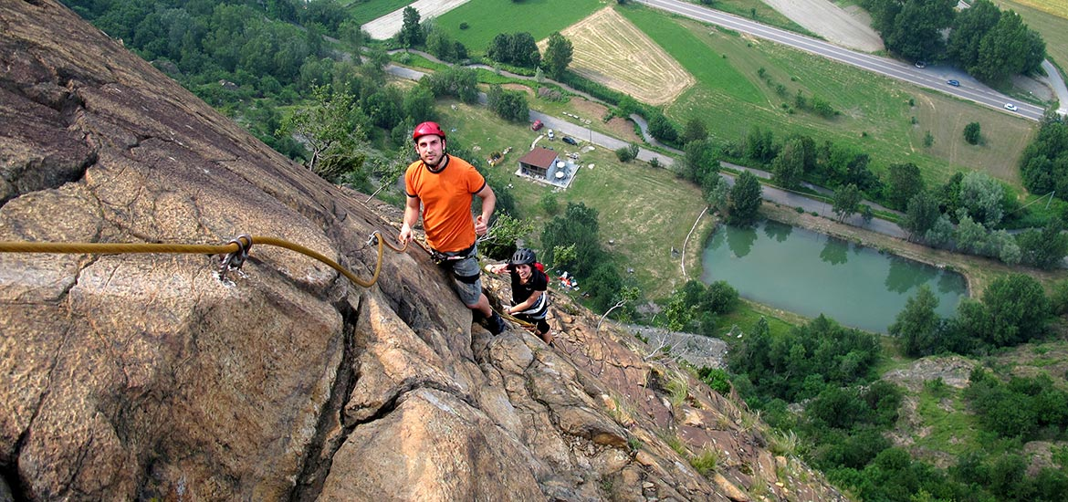 Via ferrata around Turin to the Sacra di San Michele Abbey