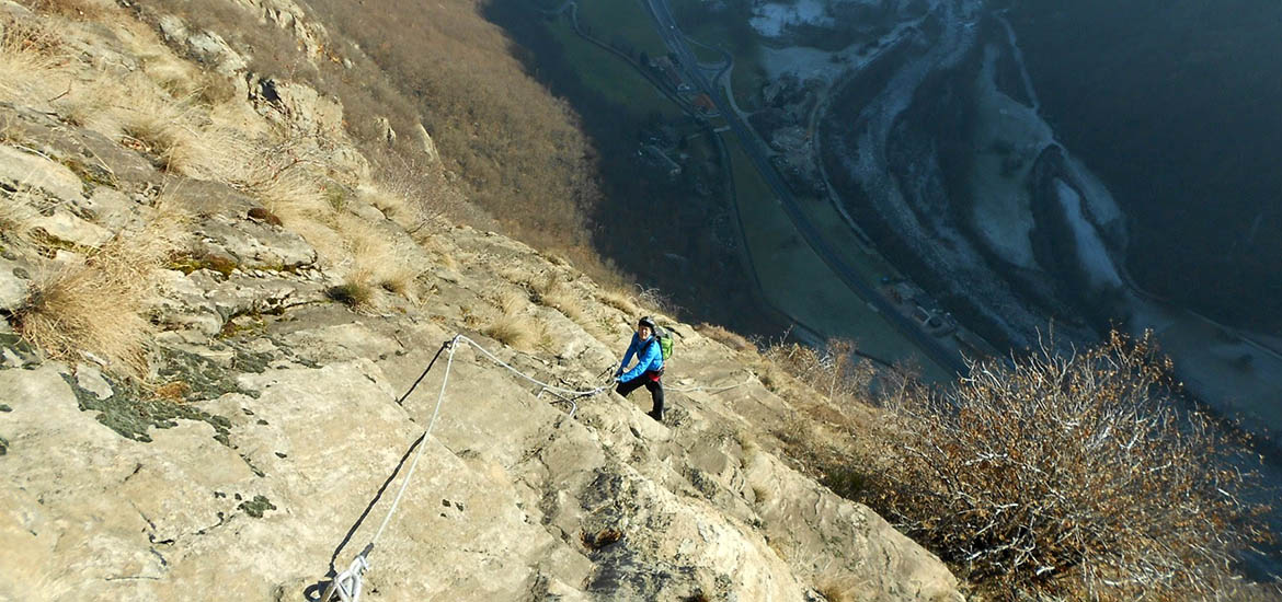 Via ferrata excursion in Piedmont: Pont Canavese route, Orco Valley