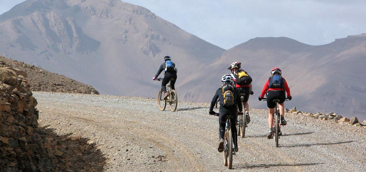Tour in mountain bike in Marocco