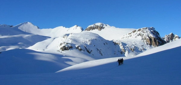 Ski touring and splitboarding holiday in Val Maira, Alps of Piedmont