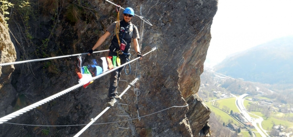Day excursion on the Pont Canavese via ferrata route with guides or self guided